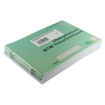 Übergabebuch BTM Tresorschlüssel 10 Stück