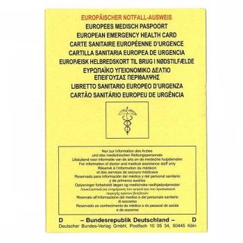 Europäischer Notfall-Ausweis ENA 10 Stück