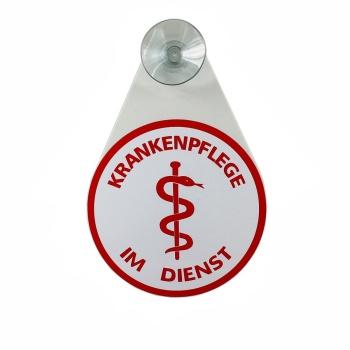 Saugnapfschild  Krankenpflege für die Windschutzscheibe Ihres Autos